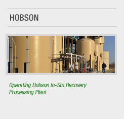 Hobson Recovery Plant